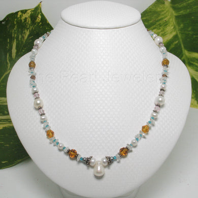 9600152-Beautiful-Hand-Crafted-Gemstone-Chips-White-Pearls-Necklace