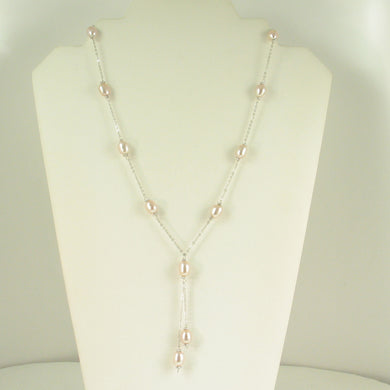 9600222-Sterling-Silver-Hand-Crafted-Pink-Freshwater-Pearls-Tin-Cup-Necklace