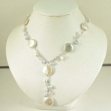 9600232-Solid-Sterling-Silver-Hand-Crafted-Peach-Coin-Pearls-O-chains-Necklace