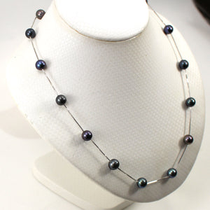 9602091-Sterling-Silver-Handcrafted-Black-Cultured-Pearls-Tin-Cup-Necklace