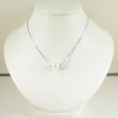 9603090-Single-Pearl-Silver-Chain-9-10-MM-Freshwater-Pearl Simple-Necklace