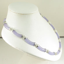 Load image into Gallery viewer, 9610062-Sterling-Silver-15-Segments-7x25mm-Lavender-Jade-Necklace