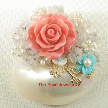 Load image into Gallery viewer, Fine Handcrafted Amazing Gemstone Flower Design High Quality Brooch Pendant