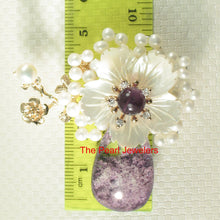 Load image into Gallery viewer, Handcrafted Amazing Gemstone Flower Design High Quality Brooch Pendant
