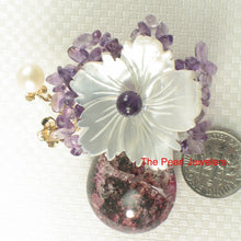 Load image into Gallery viewer, Handcrafted Elegant & Beautiful Gemstone Flower Design Brooch Pendant