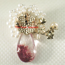 Load image into Gallery viewer, Handcrafted Elegant & Beautiful Quartz Crystal Flower Design Brooch Pendant