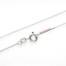 Load image into Gallery viewer, F940009-Solid-Silver-925-Rhodium-Plated-0.8mm-Classic-Box-Chain-Bracelets