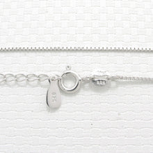Load image into Gallery viewer, Sterling Silver 925 Box Chain .8mm Rhodium Finish Adjustable Length 16-19""