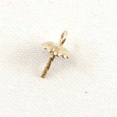 14k-Yellow-Solid-Gold-Eye-Pin-4.5mm-Fluled-Findings-Good-for-DIY