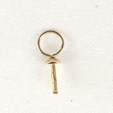 14k-Yellow-Solid-Gold-Eye-Pin-4.5mm-Ring-Plain-Pad-Findings-Good-for-DIY