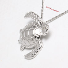 "Load image into Gallery viewer, Beautiful Solid 925 Sterling Silver Hawaiian ""Honu"" Sea Turtle Pendant"
