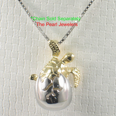 Hawaiian Jewelry Newly Born Honu Design Crafted of Solid Silver 925 Pendant