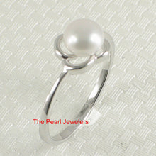 Load image into Gallery viewer, Solid Sterling Silver 925 Flower-Design White Freshwater Cultured Pearl Ring