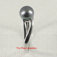 Load image into Gallery viewer, Solid Sterling Silver 925 Black Freshwater Cultured Pearl Solitaire Ring