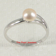 Load image into Gallery viewer, Solid Sterling Silver 925 Pink Freshwater Cultured Pearl Solitaire Ring