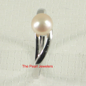 Solid Sterling Silver 925 Pink Freshwater Cultured Pearl Solitaire Ring