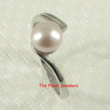 Load image into Gallery viewer, Solid Sterling Silver .925 Pink Freshwater Cultured Pearl Solitaire Ring