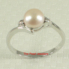 Load image into Gallery viewer, Solid Silver .925 Pink Pearl w/ Cubic Zirconia Solitaires with Accents Ring