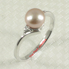 Load image into Gallery viewer, Solid Silver 925 Lavender Pearl w/ Cubic Zirconia Solitaires w/ Accents Ring