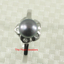 Load image into Gallery viewer, Solid Sterling Silver 925 Rhodium Plated Black Cultured Pearl Cocktail Ring