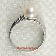 Load image into Gallery viewer, Solid Sterling Silver 925 Rhodium Plated F/W Cultured Pearl Solitaire Rings