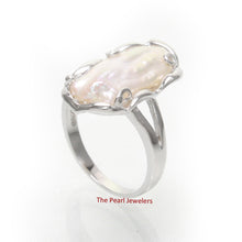 Load image into Gallery viewer, Genuine Natural White Biwa Pearl Ring set in 925 Solid Sterling Silver