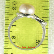 Load image into Gallery viewer, Solid Sterling Silver 925 Love Knot Design 9mm Pink Cultured Pearl Rings
