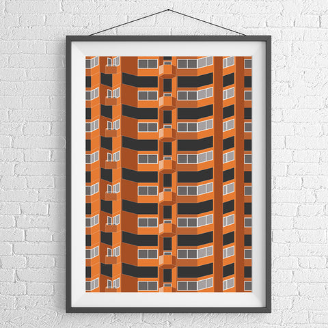 Worlds End Estate (02) Art Print