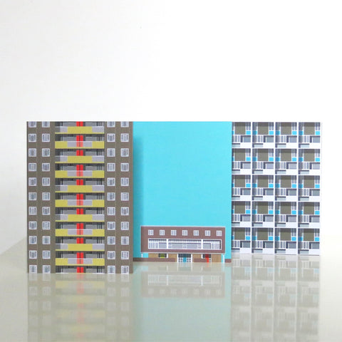 Modern House London 02 - Pack of 3 Cards