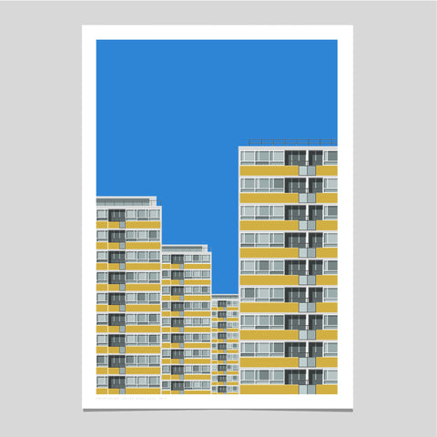 A2 Limited Edition - Churchill Gardens Estate Art Print - SOLD OUT
