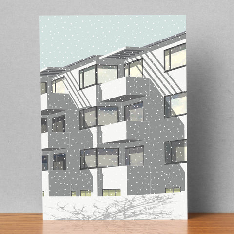 Bellavista in the Snow - Christmas Card (Pack of 4)