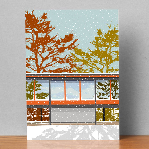 Middelboe House in the Snow - Christmas Card (Pack of 4) 2 left!