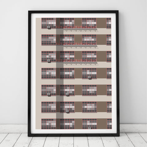 307 East 44th Street, NYC Art Print