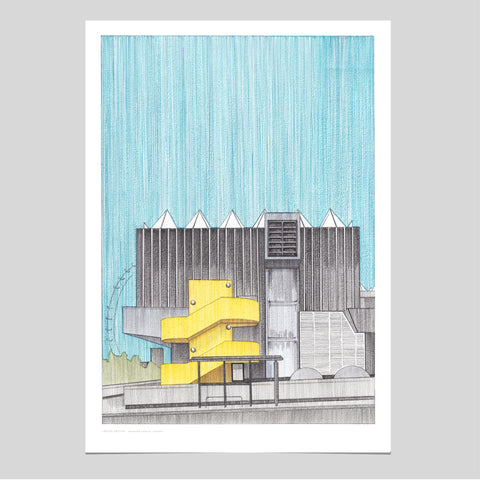 A3 Limited Edition of Hand Drawing - Hayward Gallery, London - (10 only)