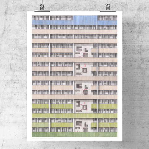 A3 Limited Edition of Hand Drawing - Beautiful Estate, Leytonstone (50 only)
