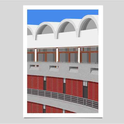 A2 Limited Edition_Frobisher Crescent, Barbican Art Print   -   (30 only)