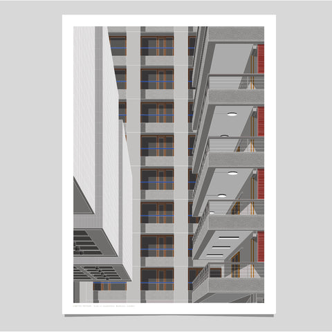 A2 Limited Edition_View to Shakespeare, Barbican Art Print   -   (30 only)