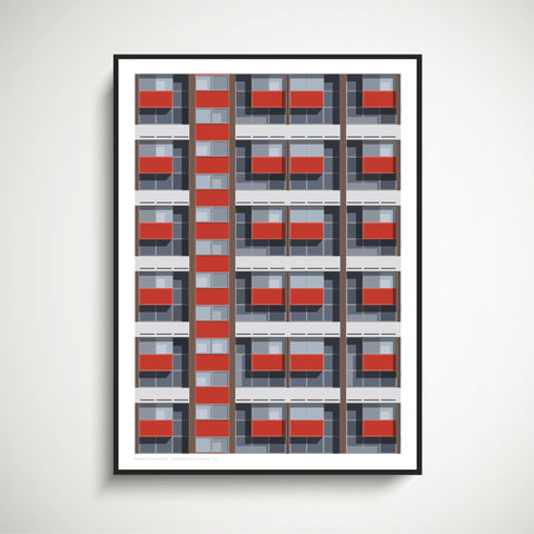Basterfield House Repeat Art Print (JUST ONE AVAILABLE)