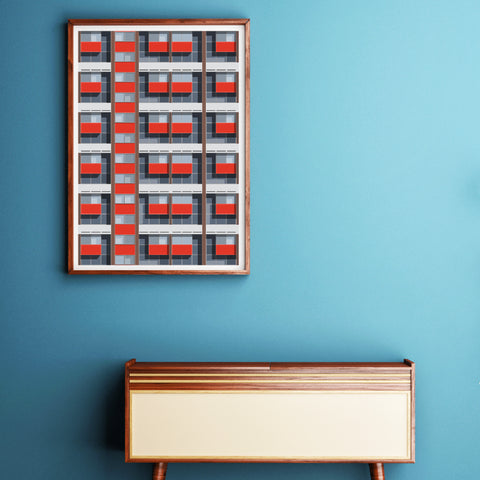 Basterfield House Repeat Art Print