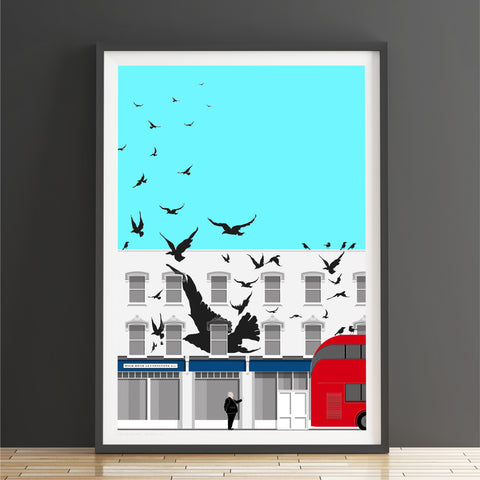 A2 Limited Edition_The Birds, E11 Art Print   -   (50 only - 23 left)