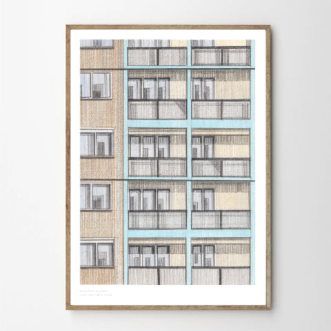 A3 Limited Edition of Hand Drawing - Brandon Estate, Kennington (10 only)