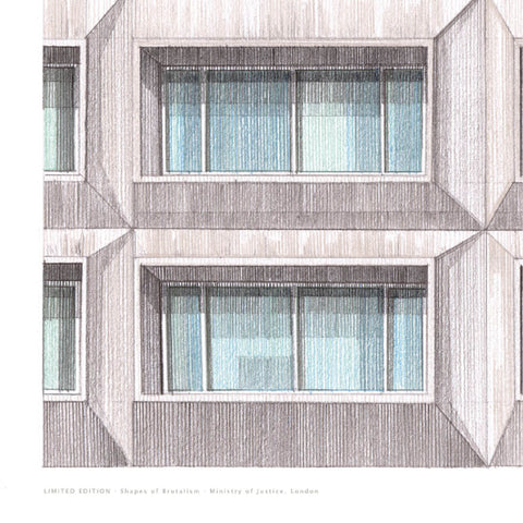 A2 Limited Edition / Original Drawing - Ministry of Justice, London - (30 only)