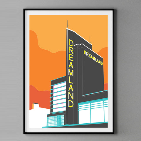 A2 Limited Edition - Down to Margate Mixed Media Art Print  -  (25 only - 2 LEFT)