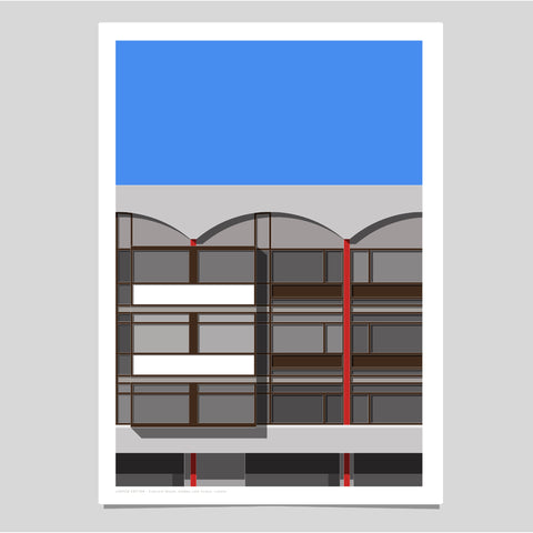 A2 Limited Edition_Crescent House, Golden Lane Estate Art Print   -   (30 only)