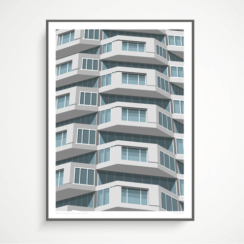 Shapes of Brutalism No. 1 Croydon, London - graphic print