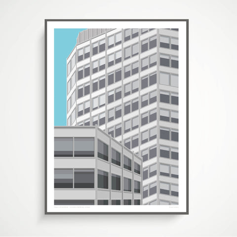 Shapes of Brutalism Economist Buildings, London - graphic print