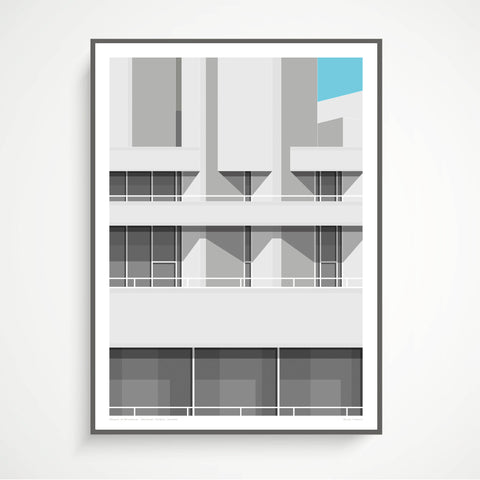Shapes of Brutalism National Theatre, London - graphic print