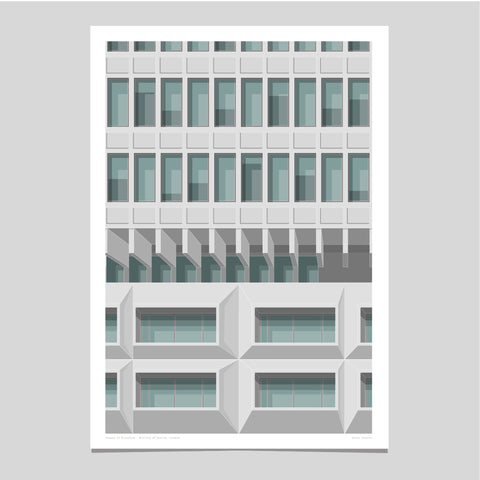 Shapes of Brutalism Ministry of Justice, London - graphic print