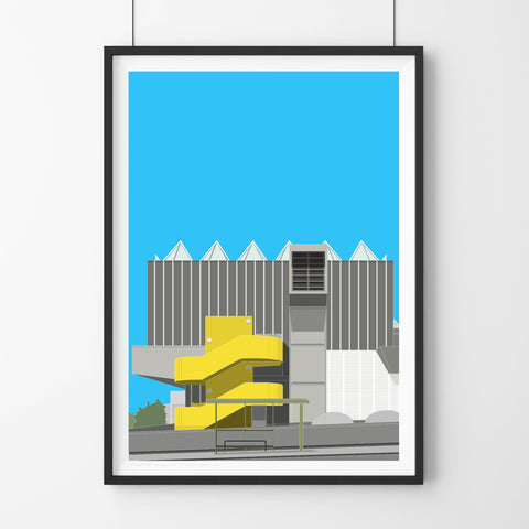 A2 Limited Edition  -  Hayward Gallery from Waterloo Bridge (30 Only)