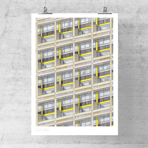 A3 Limited Edition of Hand Drawing - Wandsworth (10 only - 1 LEFT)